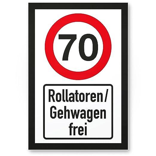 DankeDir!. 70 años andadores/gehwagen Libre, plástico Cartel ...