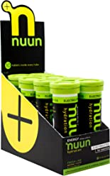 Nuun Hydration: Electrolyte + Caffeine Drink Tablets, Fresh Lime, Box of 8 Tubes (80 servings), Performance Formula with A Kick