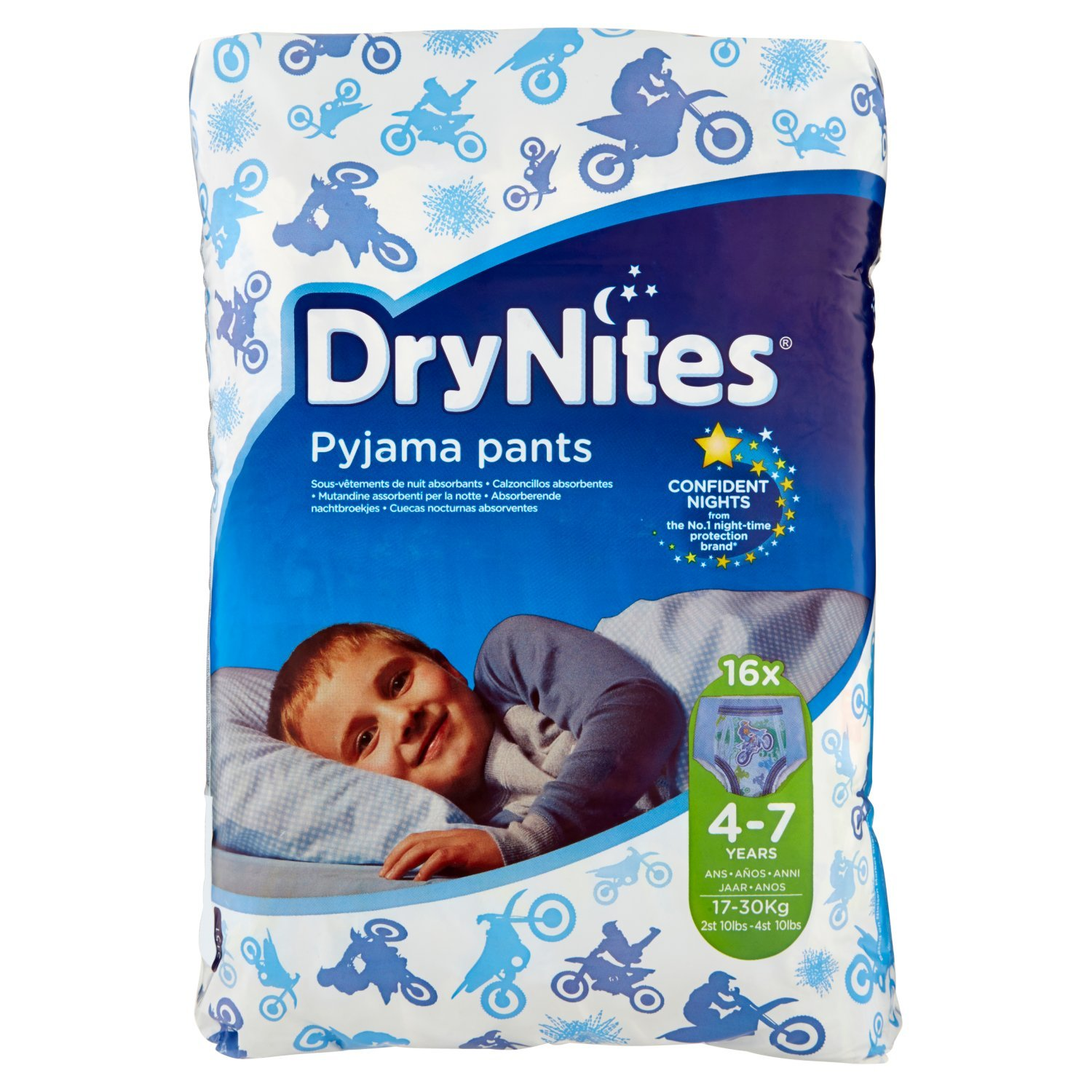 Huggies DryNites Pyjama Pants for Boys 4-7 Years (17-30 kg) 2 x Pack of 16 2151091