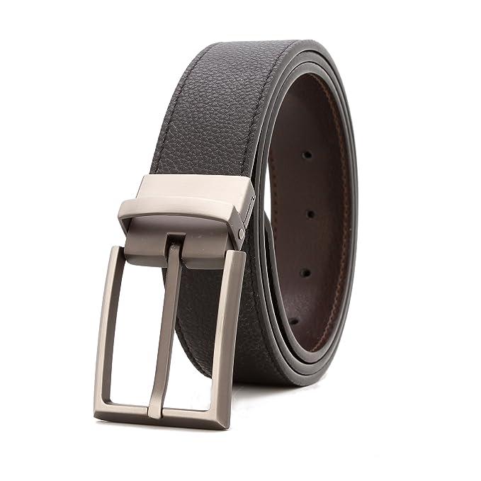 Amazon.com: gurscour 100% para hombre hebilla de cinturón ...