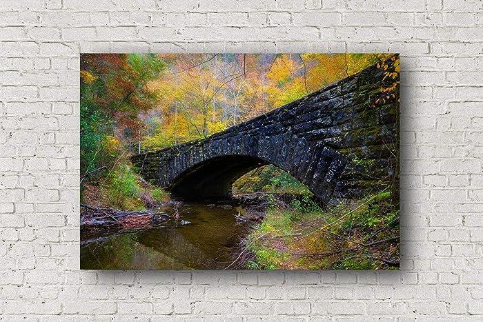 1abfbd7bea1 Amazon.com  Smoky Mountains Canvas Wall Art - Gallery Wrapped Canvas ...