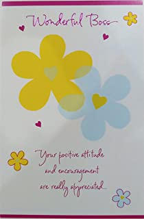 Amazon youre a great boss happy bosss day greeting card wonderful boss your positive attitude and encouragement are really appreciated happy bosss day greeting m4hsunfo