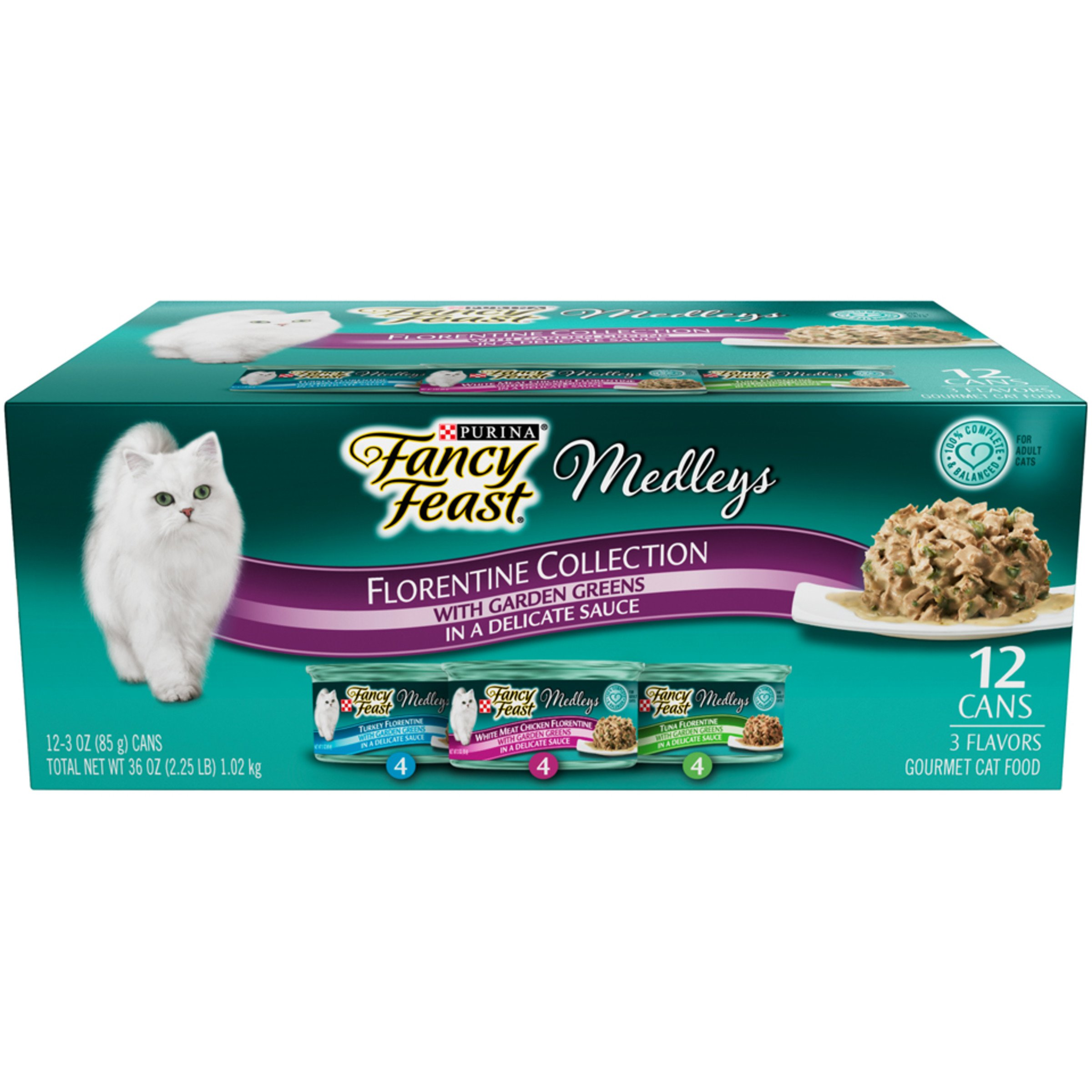 Purina Fancy Feast Medleys Florentine Collection Gourmet Wet Cat Food Variety Pack - (24) 3 oz. Cans