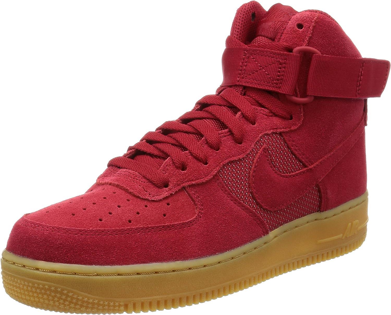 Nike Mens Air Force 1 High 07 LV8 Sneakers-Red-9.5