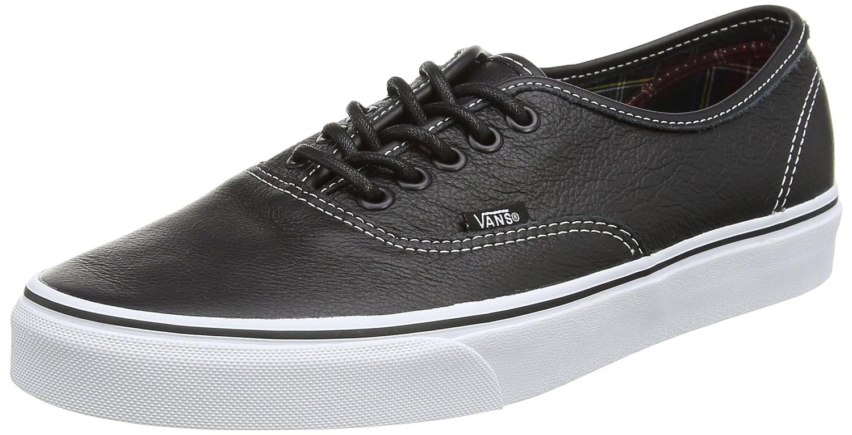 Vans Authentic, Unisex-Erwachsene Sneakers  385 EU|Schwarz (Black/Plaid)