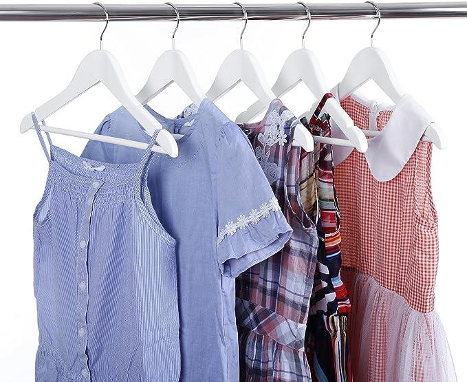 1/Rose/ /Lot de 200/cintres en bois avec barre pantalon pantalon et Rock aufh/änge encoches Cintres de garde-robe /à repasser en bois avec HARKEN rotatif /à 360//°