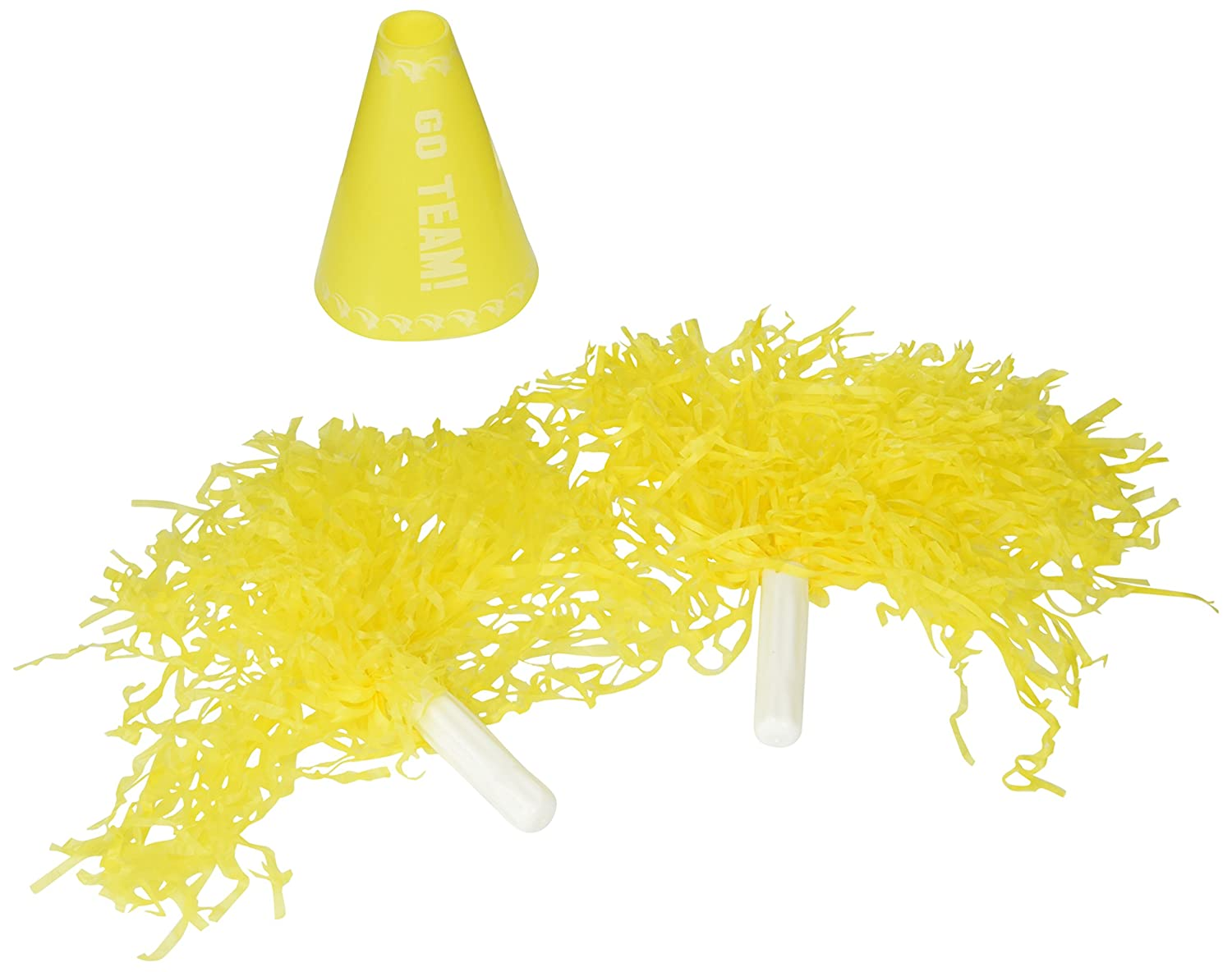 Cheerleader Pom Pom and Megaphone (Black)