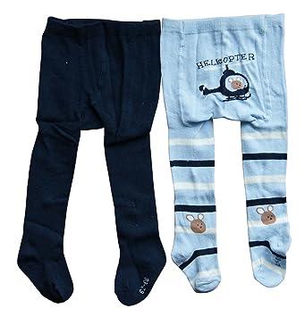 2 Babystrumpfhosen Strumpfhose Baby Strumpfhose Dunkelblau//Hellblau 62//68