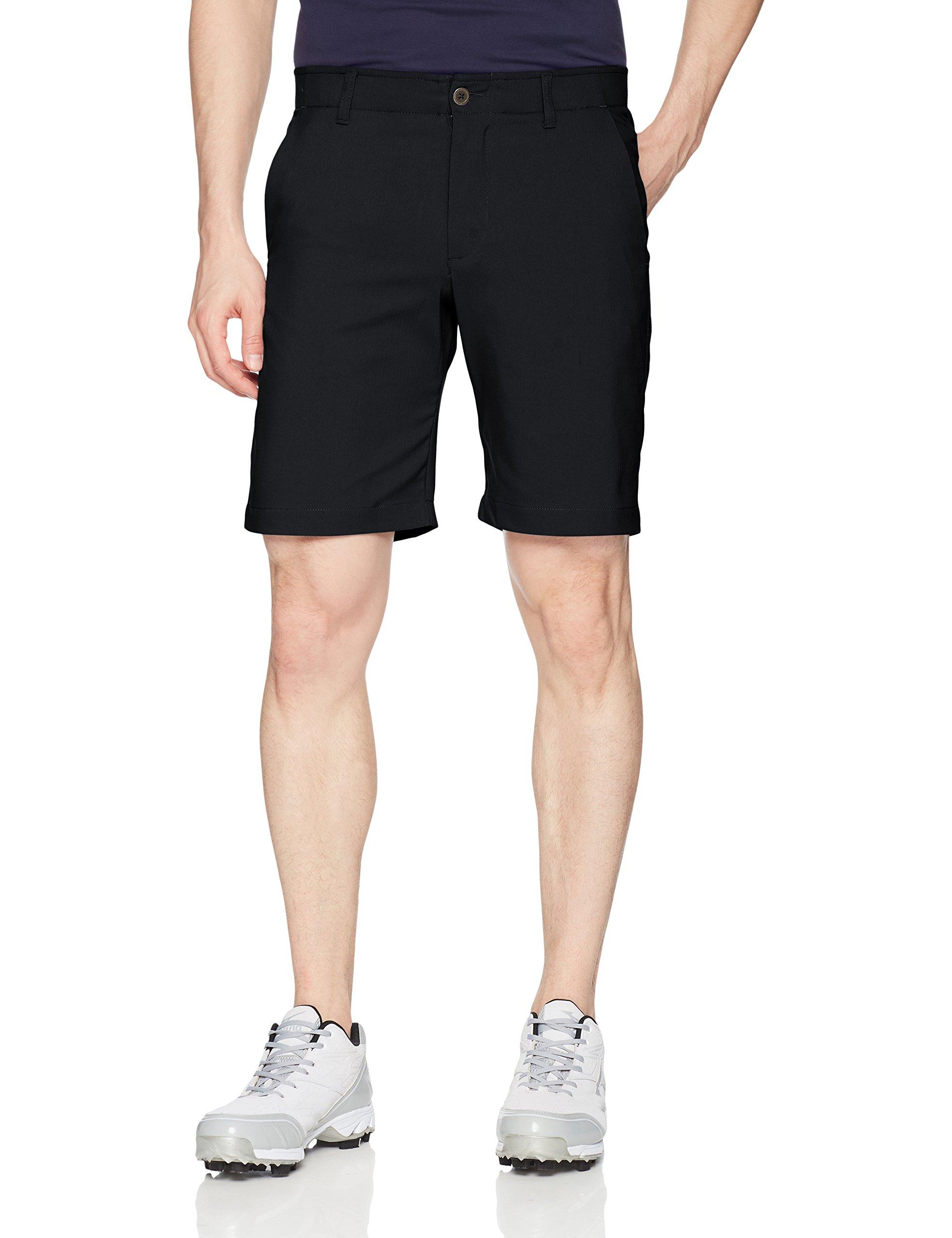 Under Armour Mens Takeover Golf Short, Black (001)/Black, 34