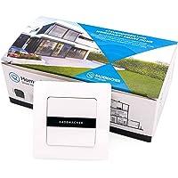 Rademacher 2-voudige draadloze wandknop (1-kanaal) voor DuoFern Smart-Home apparaten - opbouw, met batterij, incl. frame…