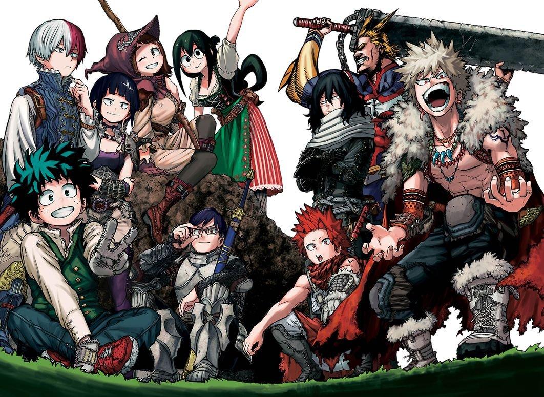 """Hero Academia Midoriya All might Anime 36/"""" x 24/"""" Large Wall Poster Print Manga"""