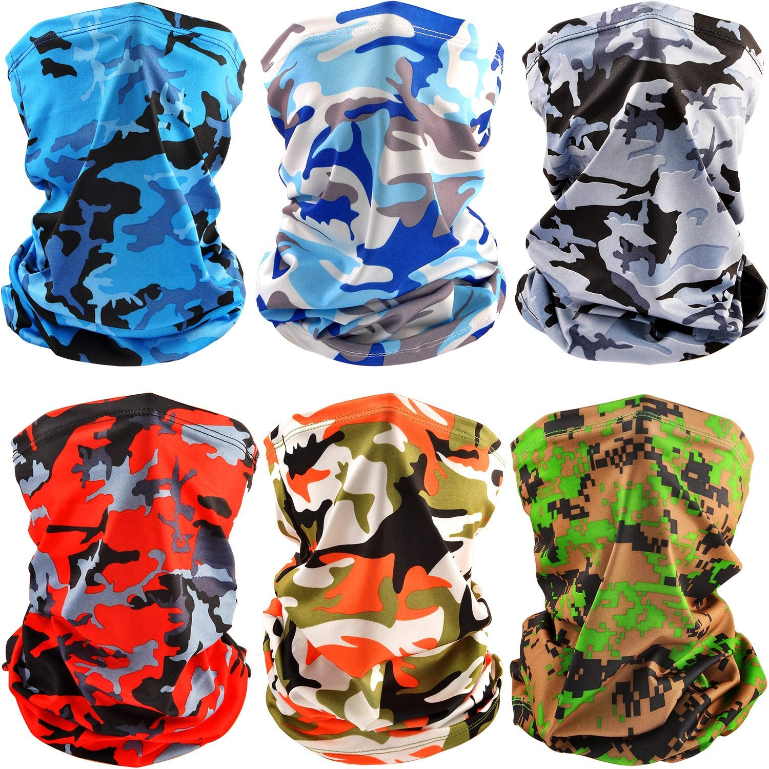 6 cover Summer UV Protection Face Mask Neck Gaiter Scarf Sunscreen Breathable 2