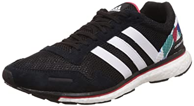 Adidas Men's Adizero Adios 3 Wide Cblack, Ftwwht and Rayred Running Shoes