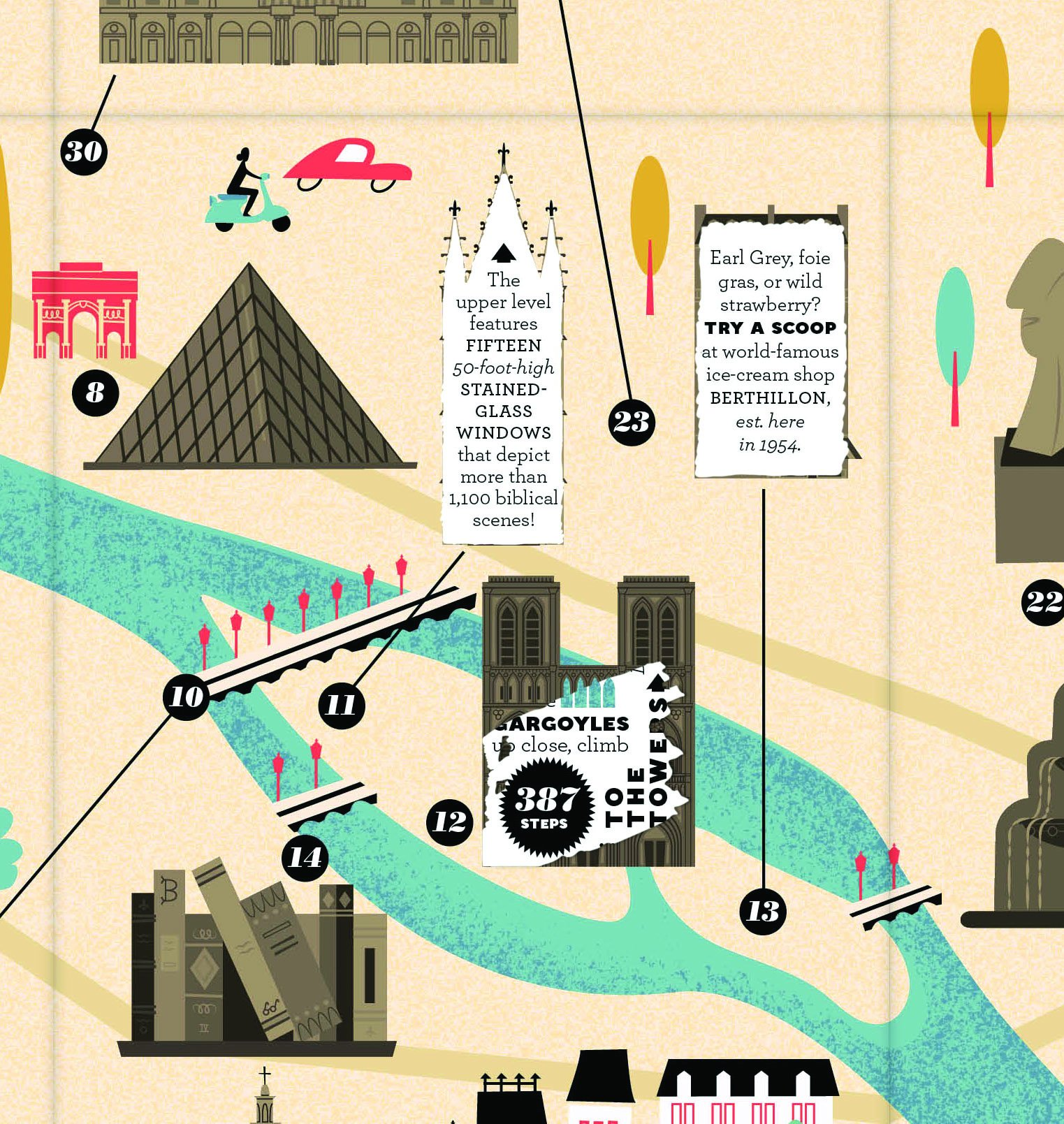 City Scratch-off Map: Paris: A Sight-Seeing Scavenger Hunt ...