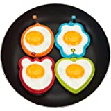 Nonstick Silicone Fried Egg Mold Heart Egg Ring Set For Cooking Pancake Shaper Pancake Ring Mold (little brush as gift) From RENOOK
