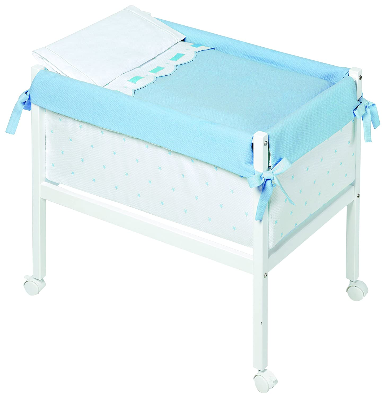 Kinder Class–minicuna, 61x 90x 80cm, Farbe: weiß/blau