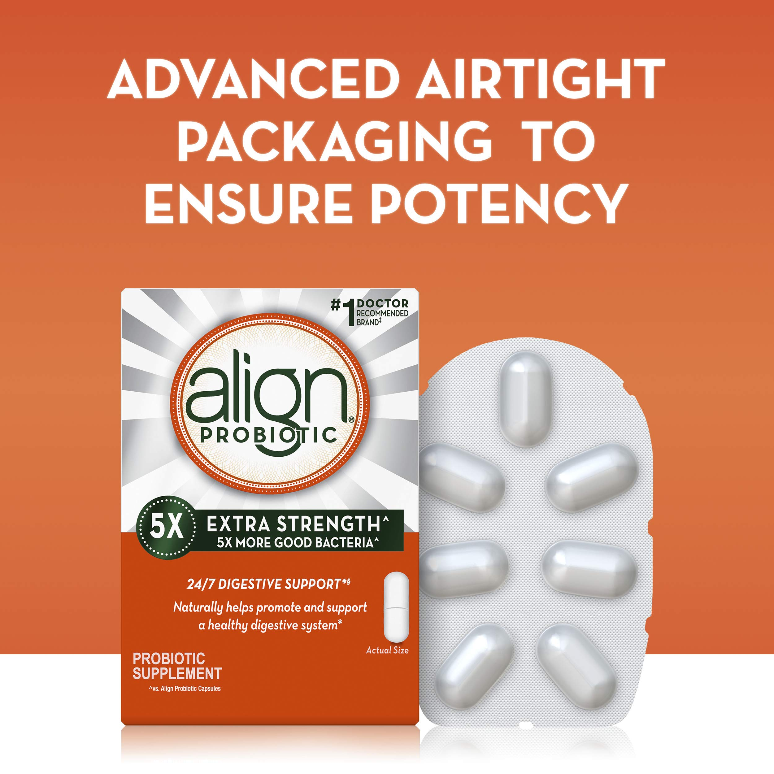 Align Extra Strength Probiotic, Probiotic Supplement for Digestive Health in Men and Women, 42 capsules, #1 Doctor Recommended Probiotics Brand(Packaging May Vary) by Align (Image #3)
