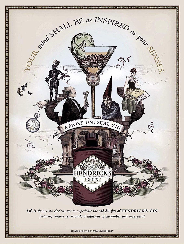 Supsum HendrickS Gin Poster di Arte della casa di Moda retr/ò Decorazione della Parete applicabile al Bar Ristorante