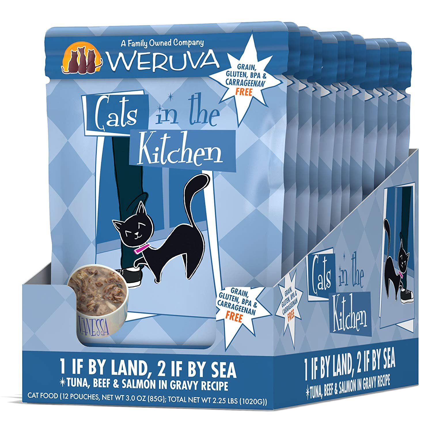 Amazon.com : Weruva Cats in the Kitchen, 1 if By Land, 2 if By Sea ...