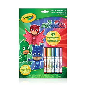 Crayola Colouring & Activity Book PJ Masks