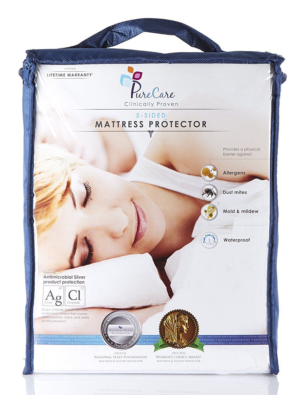 amazon com purecare premium 5 sided mattress protector waterproof