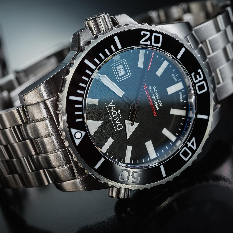 Amazon.com: Davosa Automatic Swiss Made Men Watch - Professional Argonautic BG Analog Mechanical Movement Stainless Steel Band Menswatch (16152220): Watches