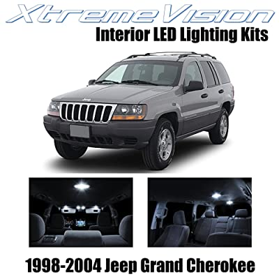 XtremeVision Interior LED for Jeep Grand Cherokee 1998-2004 (12 Pieces) Pure White Interior LED Kit + Installation Tool: Automotive