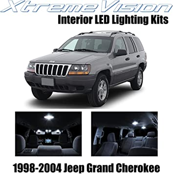 Amazon Com Xtremevision Juego De Luces Led Interiores Para Jeep Grand Cherokee 1998 2004 12 Piezas Herramienta De Instalacion Blanco Puro Automotive