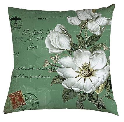 amazon com jasmine flower throw pillow case white jasmine flowers