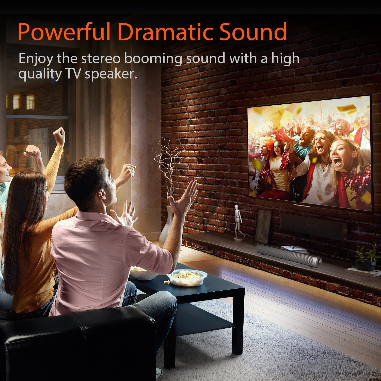 Sound Bar TV Soundbar Wired and Wireless Bluetooth Home Theater TV Speaker, Surround Sound Bar for TV, PC, Cellphone (Only Fit for AUX & RCA Audio output tv) by FoolHome (Image #4)