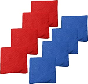 Weather Resistant Cornhole Bean Bags Set of 8 - Duck Cloth - Regulation Size & Weight - Many Color Combinations to Choose from!