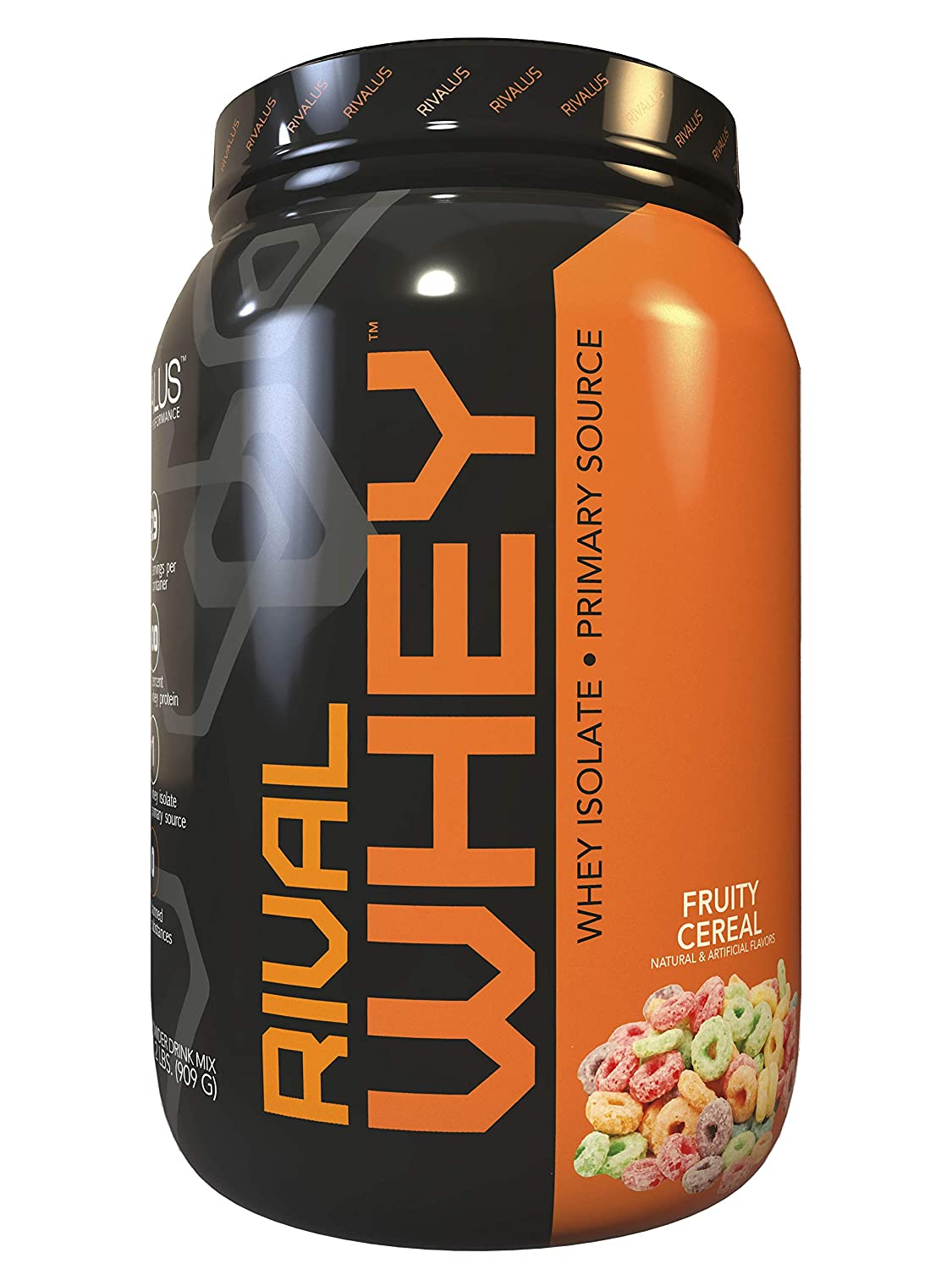 Rivalus Rivalwhey Fruity Cereal 2lb – 100 Whey Protein, Whey Protein Isolate Primary Source, Clean Nutritional Profile, BCAAs, No Banned Substances, Made in USA