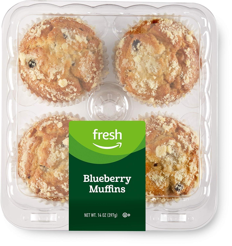 Fresh Brand – Blueberry Muffins, 14 oz (4 ct)