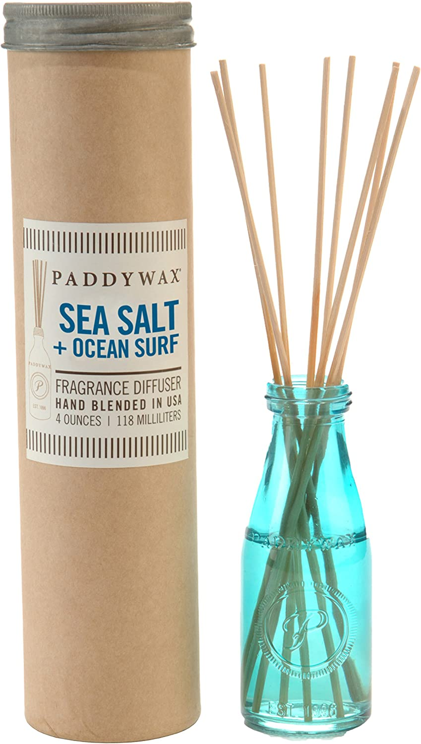 Paddywax Relish Collection Reed Oil Diffuser Set, Ocean Surf & Sea Salt