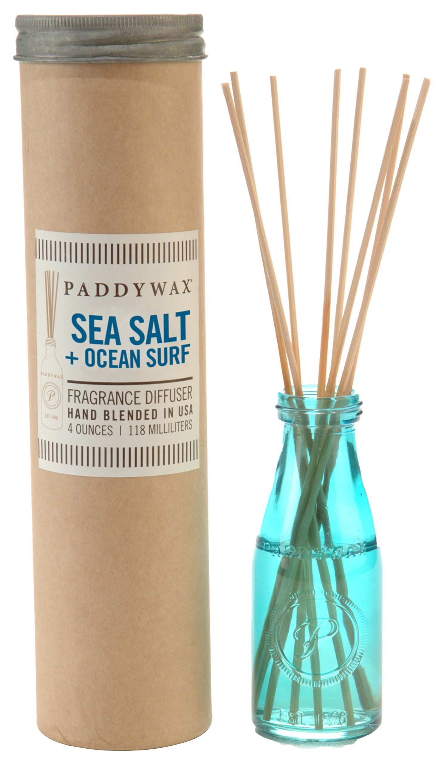 Paddywax Relish Collection Reed Oil Diffuser Set, Ocean Surf & Sea Salt by Paddywax Candles (Image #1)