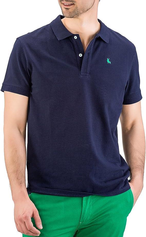 Piel de Toro Pique básico Regular fit Polo, Azul (Azul Marino 01), X ...