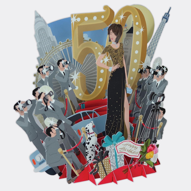 Top Of The World – Carte d'anniversaire 3D 50ème anniversaire Paper D'Art