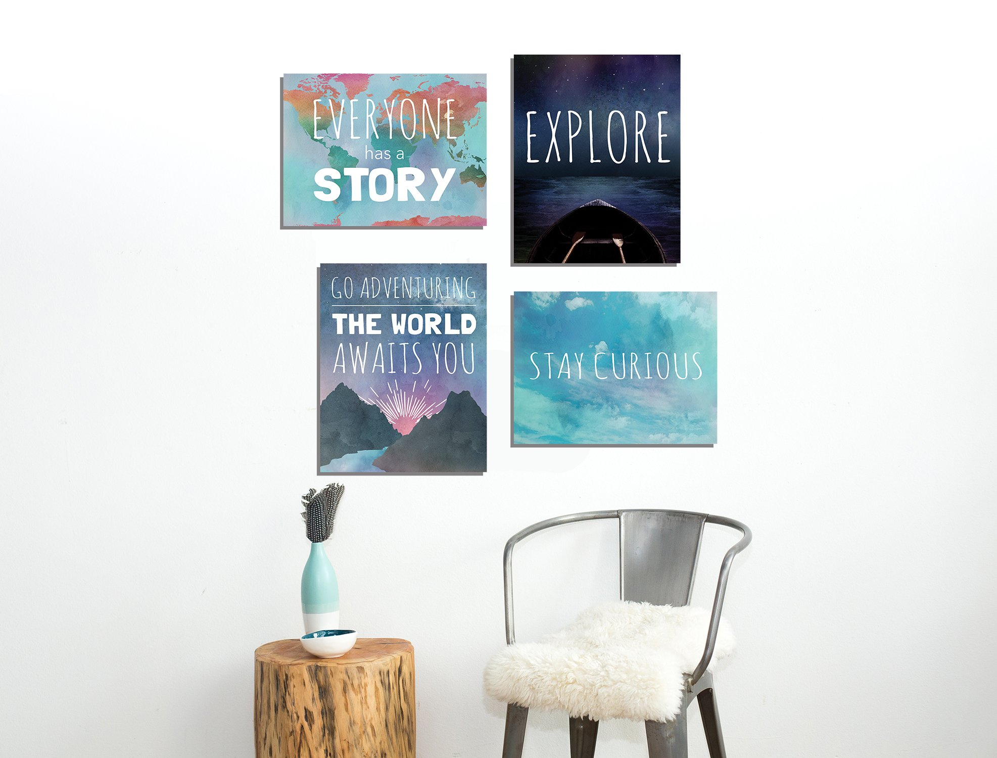 Explore Collection of Four 11x14 Wall Art Prints, Typography, Nursery Decor, Kid's Wall Art Print, Kid's Room Decor, Gender Neutral, Motivational Word Art, Inspirational Decor for Kids, Playroom Decor by Children Inspire Design (Image #2)