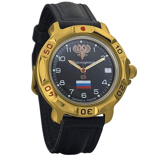 Vostok KOMANDIRSKIE 2414 819646 Militar ruso reloj mecánico: Amazon.es: Relojes