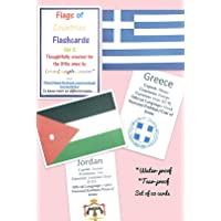 LOVE.LAUGH.LEARN Country's Flags, Currency / Capital / Languages Flashcards (Multicolor) Set 2 Handcrafted with Love