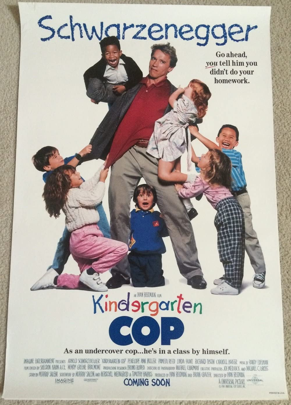 Kindergarten Cop 1990 D S Rolled Movie Poster 27x40 At Amazon S Entertainment Collectibles Store