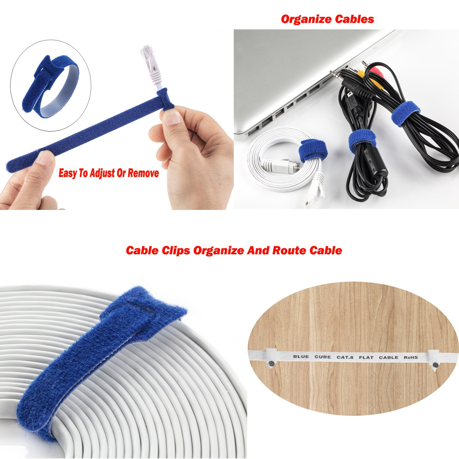 BlueCube Network Network Cable with Snagless RJ45 Connectors 100 Feet White ++ BlueCube Plus Flat CAT6 Ethernet Cable 100 Feet RJ45 Flat Ethernet Patch Cable Internet Cable