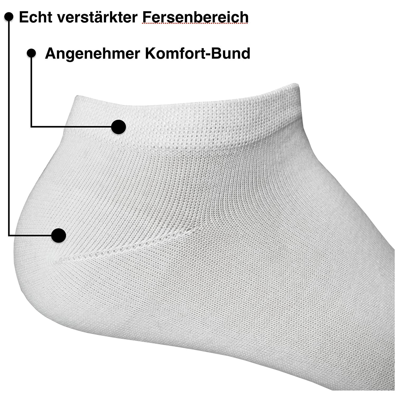 Happy Bavaria 4 12 Paar Sneaker Socken ohne Naht mit feiner