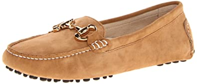 Patricia Green Womens Milly Moccasin, Camel/Gold Buckle, ...