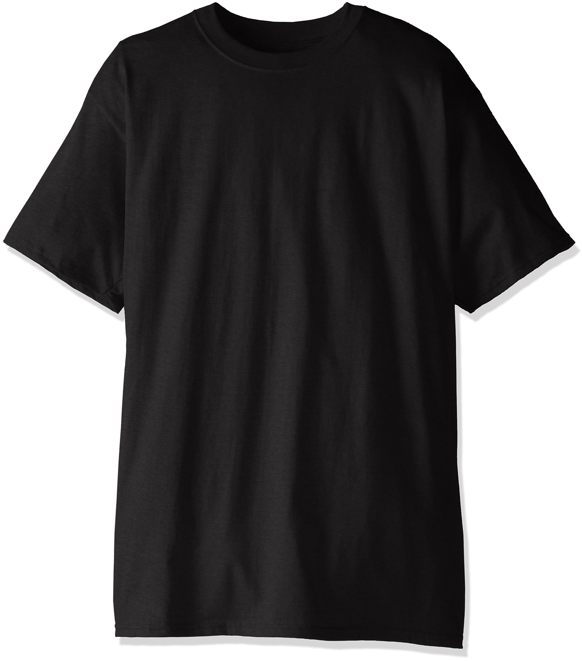 Hanes Men's Tall Short Sleeve Beefy-T, Black, 3X-Large/Tall (Pack of 2) by Hanes (Image #1)