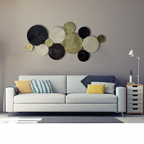 4594af54b15b Inhouse Extra Large Circles Metal Wall Hanging and Decorative Wall Art  Sculptures: Amazon.co.uk: Kitchen & Home