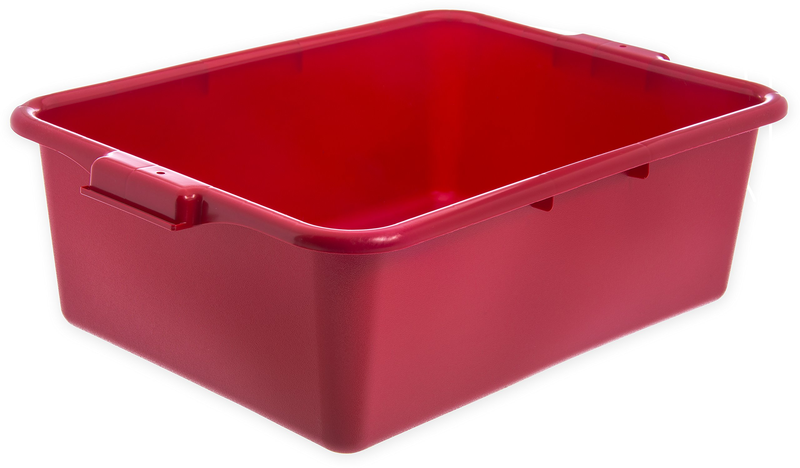 Carlisle N4401105 Comfort Curve Ergonomic Wash Basin Tote Box, 7'' Deep, Red (Pack of 12)