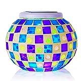 SenboweTM Solar Powered Mosaic Glass Ball LED