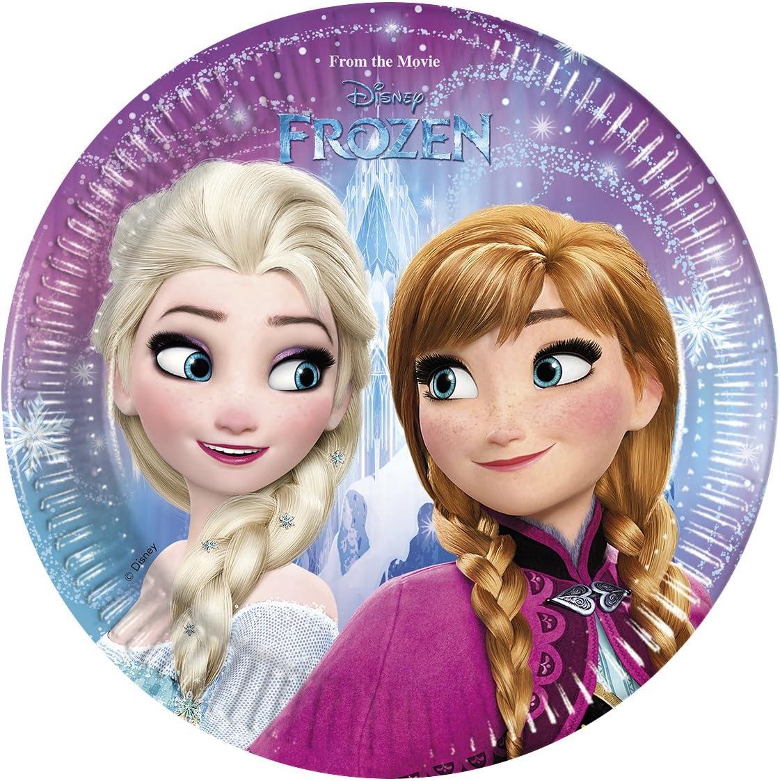 8 Disney Frozen Northen Lights Cups Tableware Childrens Birthday Party Princess