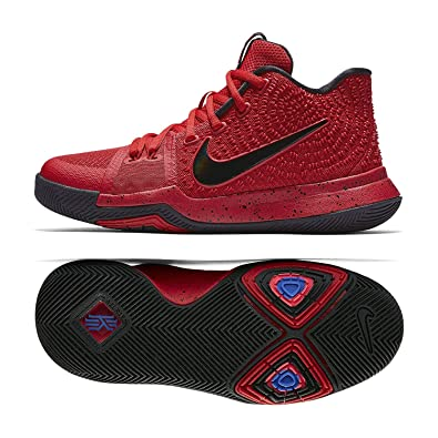 cf7ef8549121 Image Unavailable. Image not available for. Color  Nike Kyrie 3 (GS) 859466  600 University Red Black Team Red Kids